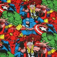 90X100 cm Marvel Super Hero The Avengers Coton Tissu pour Bébé Garçon Vêtements À Coudre Hometextile Patchwork DIY-AFCK234
