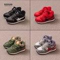 Koovan crianças sapatilhas de inverno 2017 das crianças shoes meninos meninas esportes casuais placa de lã além de veludo quente botas de couro real