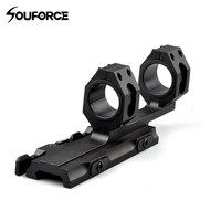 Quick Detach Autolock Extended 25.4mm/30mm Diameter Mount Base Ring for 20mm Picatinny Rail Hunting Gun Accessory