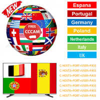 Cccam Europa 1 Year 7 Clines for gt media / free sat Satellite Receiver FULL HD DVB-S2 Support Cccam via USB Wifi dongle