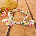 O envio gratuito de Crianças de algodão flor arcos hairbands headbands Bebê meninas floral arco headbands acessórios para o cabelo 5 cores headwear