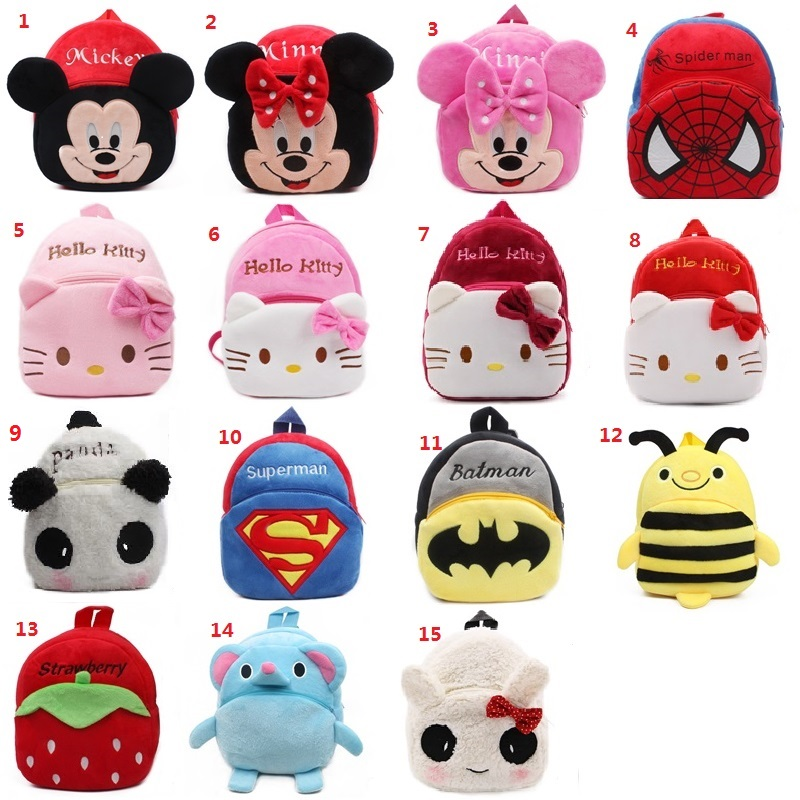 1-2.5 years Cute baby child Plush backpacks small bag Cute Cartoon anime schoolbag Child ...