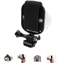 ユニバーサル電話用ヘッドストラップマウント胸ベルトホルダーリストストラップ一脚スマートフォンのための強力な吸引カップ