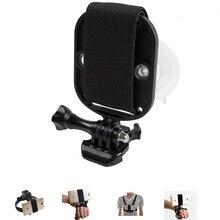 Universele Telefoon Houder Voor Head Strap Mount Borst Riem Houder Polsband Monopod Met Sterke Zuignap Voor Smartphone