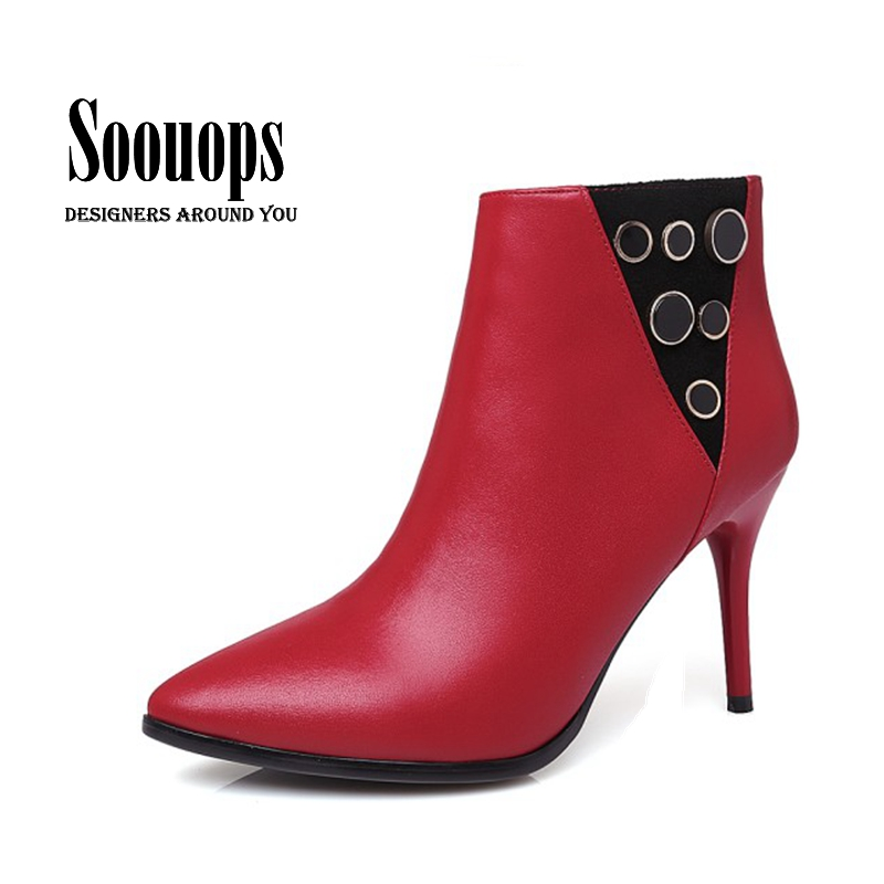 Online Get Cheap Red Ankle Boot Heels -Aliexpress.com | Alibaba Group