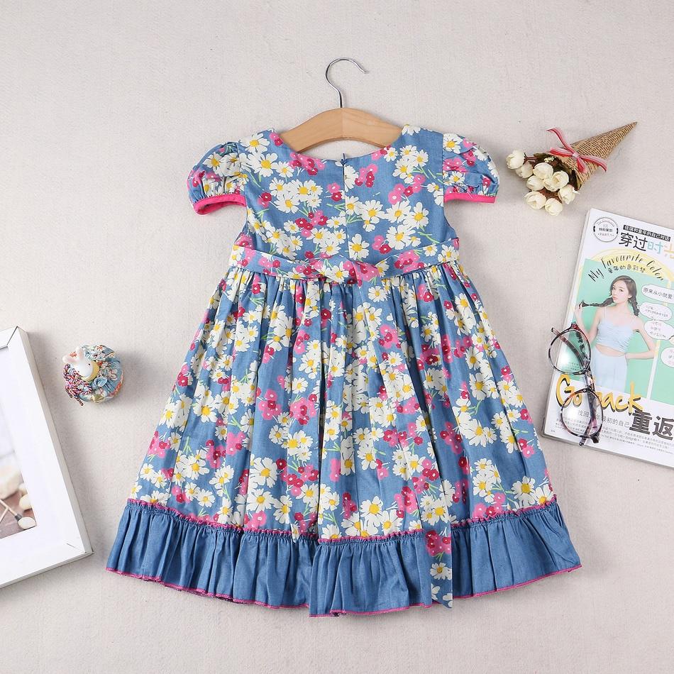 Copii de vară Rochie de îmbrăcăminte pentru fete Rochie de flori - Haine copii - Fotografie 2