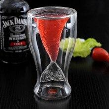Двухслойный бокал для вина прозрачный креативный бокал для русалки бокал для вина Чай Молоко Кофе стаканчики для вечеринки пивная кружка 200-300 мл