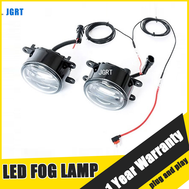 цены на JGRT Car Styling LED Fog Lamp 2011-ON for Toyota Corolla EX LED DRL Daytime Running Light High Low Beam Automobile Accessories