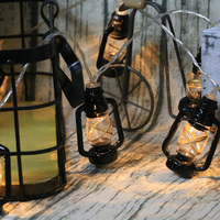 Antique Lantern Light String 3M 20 Leds Portable Battery Operated Party Light Halloween Christmas DIY Party