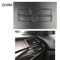 Carbon Fiber Car Interior Air conditioning side air outlet Decorative Frame Cover Trim for BMW e70 e71 X5 X6