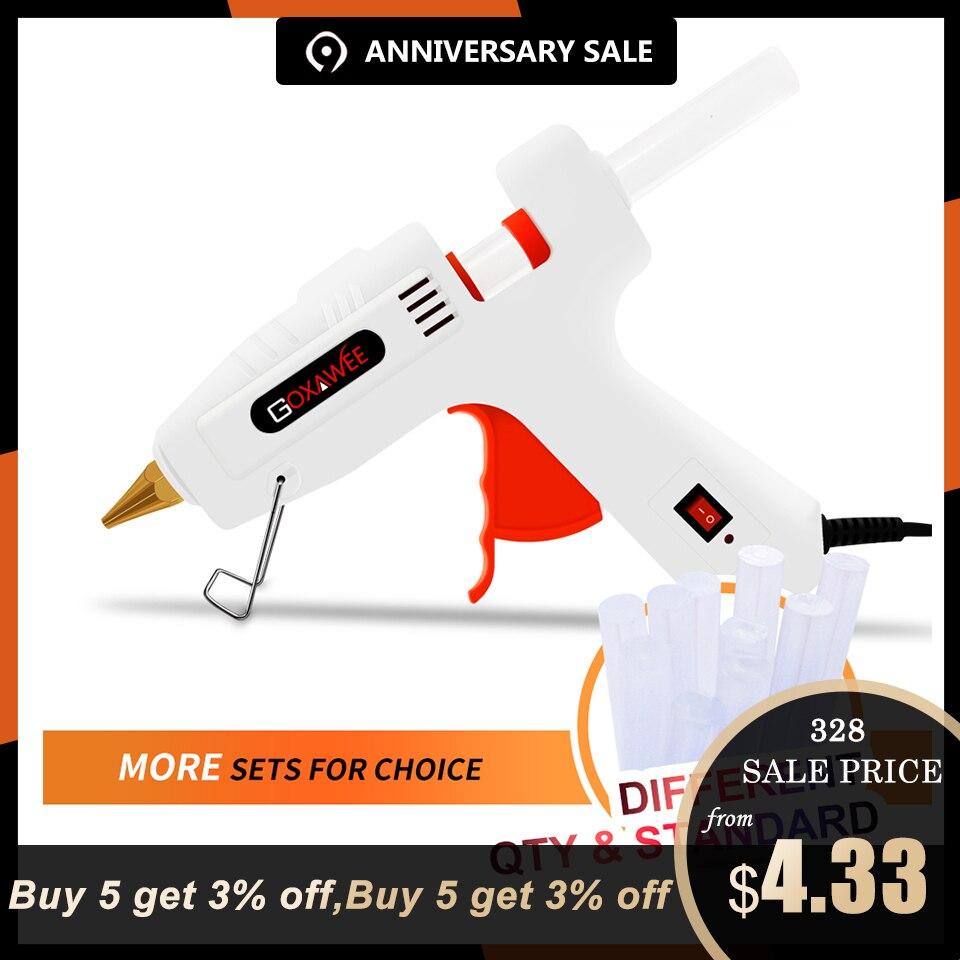 GOXAWEE термоклей пистолет Электрический Профессиональный клеевой пистолет высокая температура термоплавкий клей оправдают ремонт Thermo инструмент с 10 шт Клеевые стержни