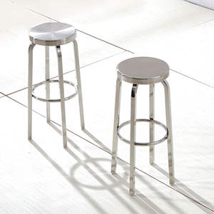 Warmfeel Modern Simple Stainless Steel High Bar Stool