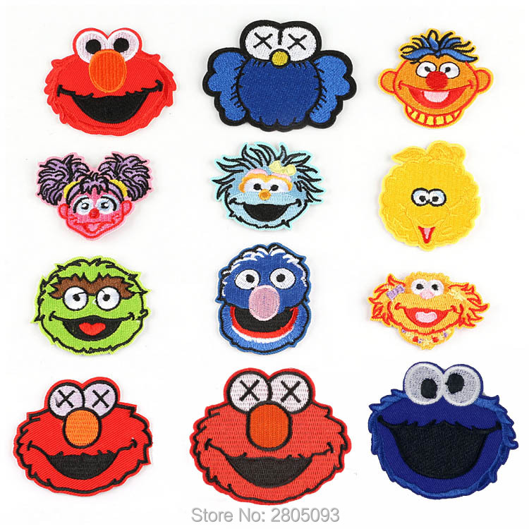 Sesame Street TV Characters Iron On Embroidered Patch