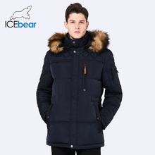 ICEbear 2018 Fashion Mens Winter Jackets Cotton Warm Coat Medium-Long Thicken Casual Parka 15MD927D
