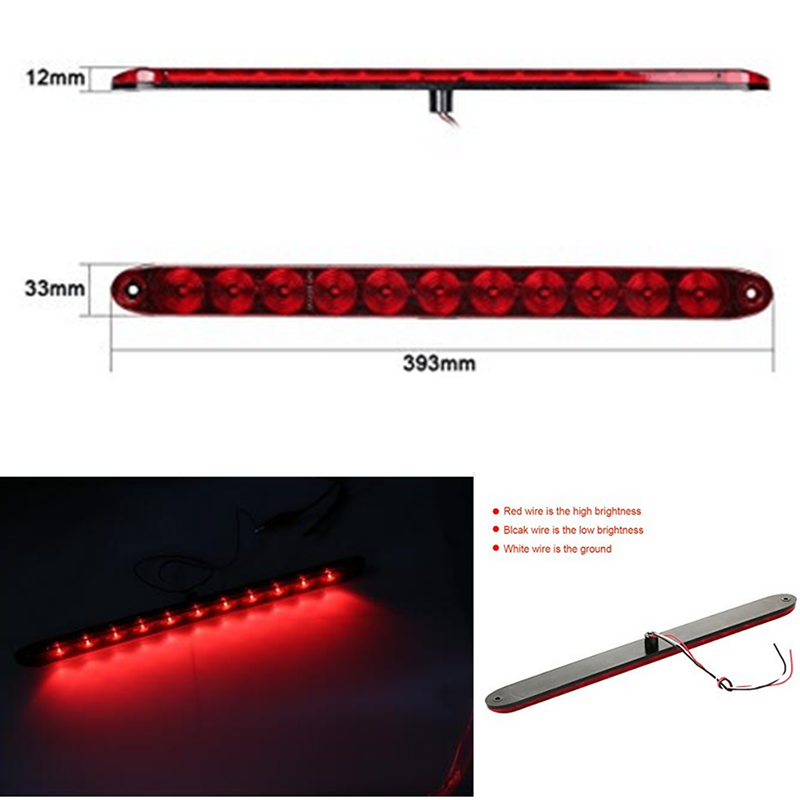 New 15 inch Red 11 LED Car Truck Third Tail Brake Stop Light Clearance Marker Turn Lamp 12V third brake lamp led third stop brake light lamp rear for mercedes benz w203 c160 c180 c200 c220 c230 c240 c270 c280 c320 c350
