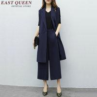 New arrival pantsuit women summer elegant ladies pant suits elastic waist women business casual clothing AA2229 YQ