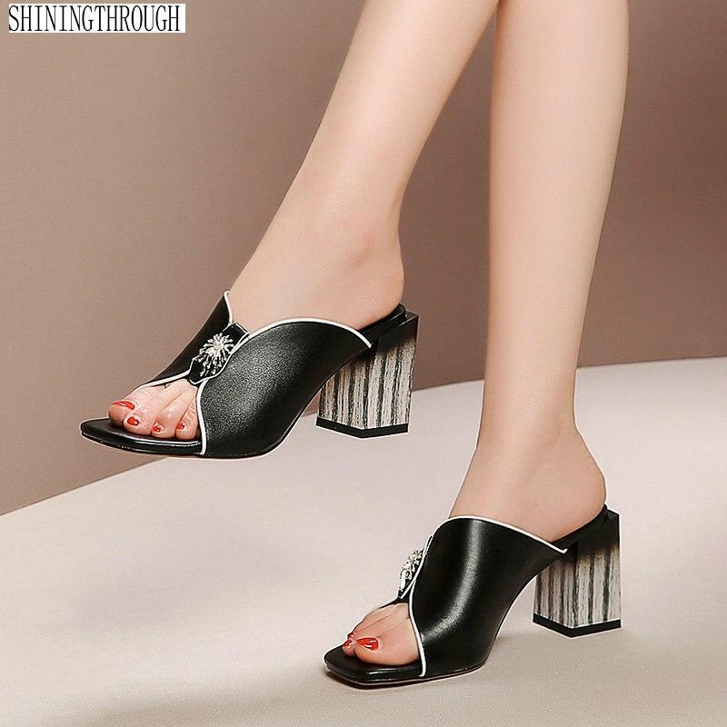 Gladiator รองเท้าแตะผู้หญิงหนังแท้รองเท้าส้นสูงรองเท้าผู้หญิงแฟชั่นงานแต่งงานรองเท้าแตะ-ใน รองเท้าใส่ในบ้าน จาก รองเท้า บน   1