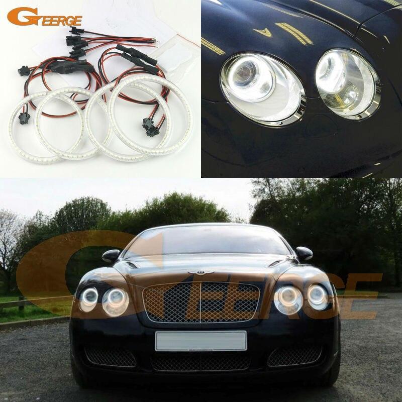 Для Bentley Континентальный летающая шпора 2006-2012 отлично Ультра-яркий 3528 SMD светодиодные глаза Ангела комплект гало кольцо