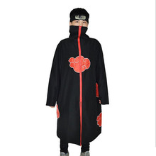 цена 2017 adult Naruto cosplay Costume Akatsuki Cloak Naruto Uchiha Itachi Halloween cosplay Costume for men and women в интернет-магазинах