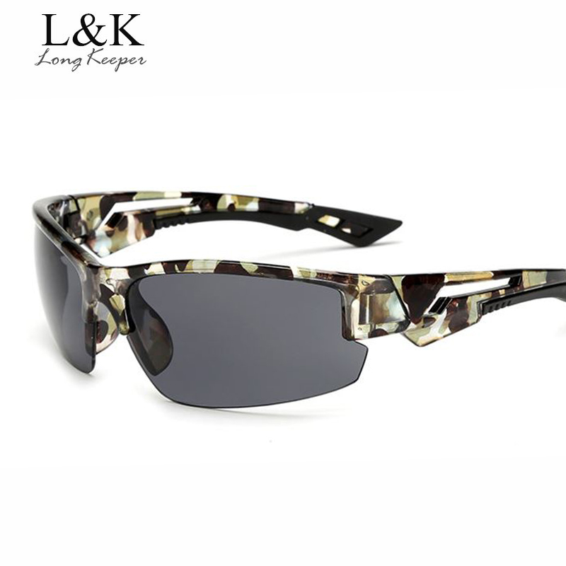 Penjaga panjang Keren Persegi Pria Sunglasses Semi Rimless Sunglasses Goggle Perlindungan UV Kacamata Matahari Perempuan Eyewears pengiriman gratis