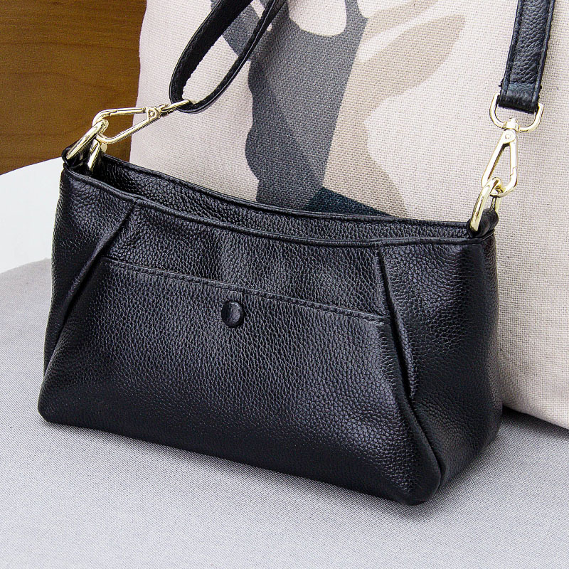 2017 Fashion The new spring and summer genuine leather small bag leather all-match single shoulder bag simple and casual bags  # europe and the new spring and summer leather handbag bag simple cross head layer cowhide temperament mini bag tote bag