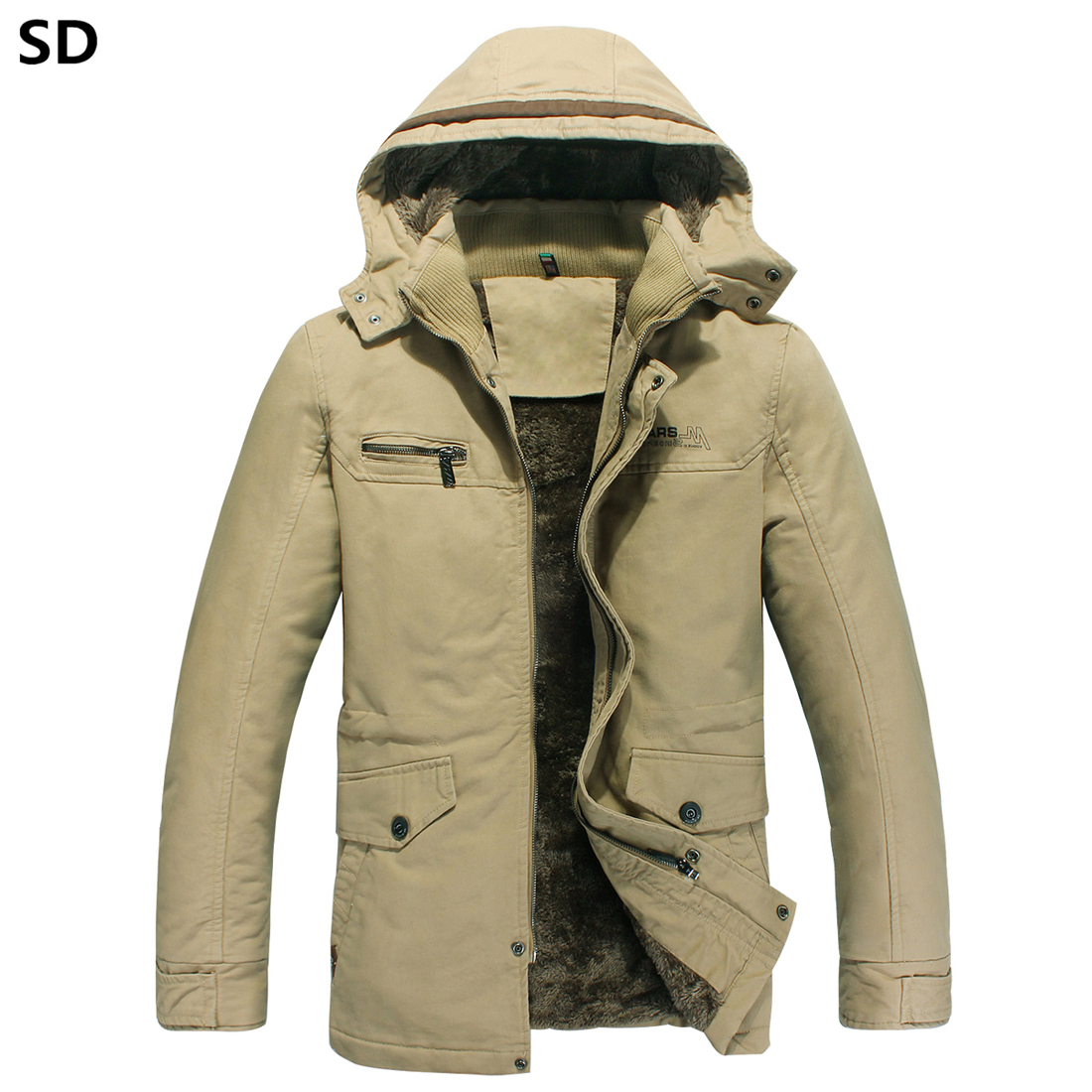 SD Hot Sale mens jackets and coats casual winter thick fleece jacket 2018 New Fashion warm windproof coat casacos masculino 604