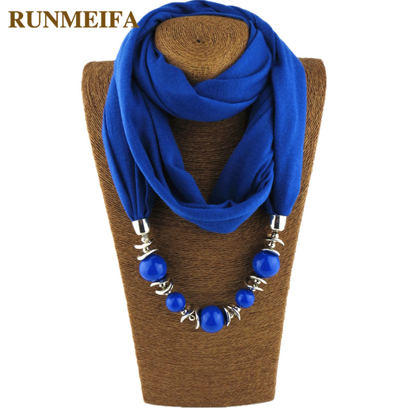 RUNMEIFA Scarves Women Necklace Hijab Foulard Jewelry Pendant Femme-Accessories Stores