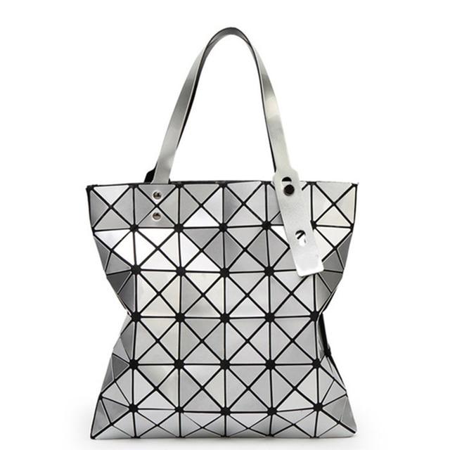 af4bca7ba5a women shoulder woman bag ladies handbag Variety folding geometric Lingge Clutch  female crossbody laser bag package bag drop ship