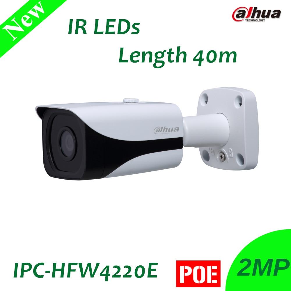 Dahua 2MP Full HD Network Small IR Bullet Camera IPC-HFW4220E with 40M IR Distance Original English Version without Logo original english firmware dahua full hd 4mp poe ip camera dh ipc hfw4421s bullet outdoor camera