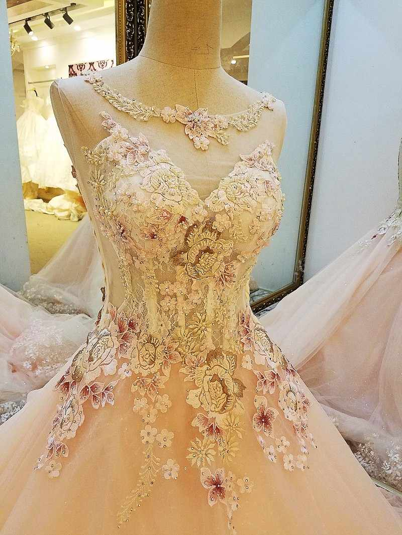 LS19 Latest Party Gowns Designs Abendkleider Lang Lace Ball