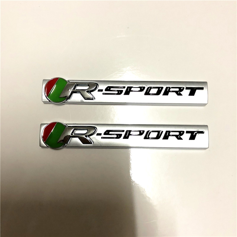 2шт 3D металл Р спортивный автомобиль задний эмблема значок автомобиля стикер для Jaguar ХК XF XJ в деятельность компании xfr F-Тип xjs через Автомобильные аксессуары стайлинга автомобилей