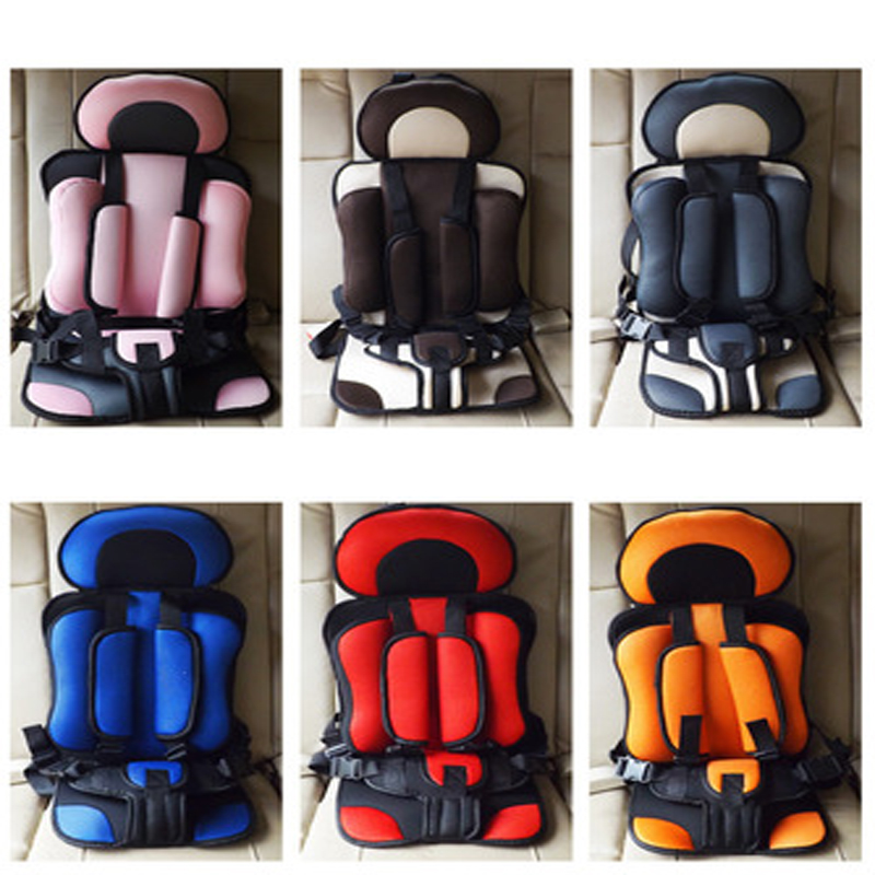 Portable car seat Easy baby child safety seat 0--4-6-12 year old car cushion Multiple colors Simple Portable Safety shoulder