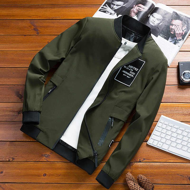 Jassen Heren Pilot Bomber Jas Mannelijke 2019 Herfst Winter Mode Baseball Hip Hop Streetwear Jassen Slim Fit Jas Merk Kleding