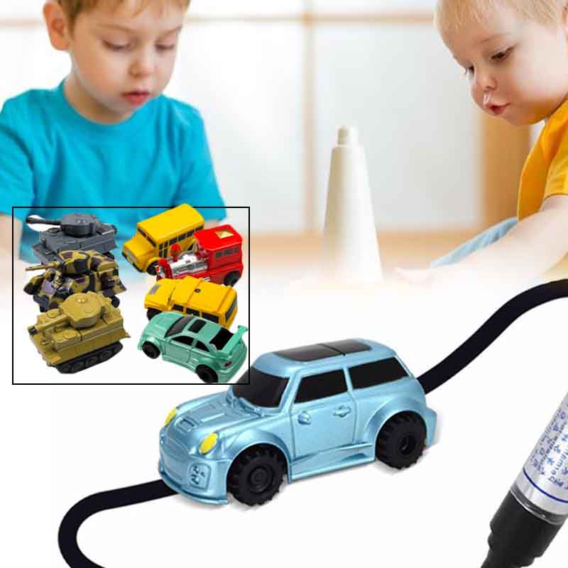 1Pcs Kids Chirldren Magic Toy Truck Inductive Car Magia Excavator Tank Construction Cars Truck Toys For Children Kids Gift