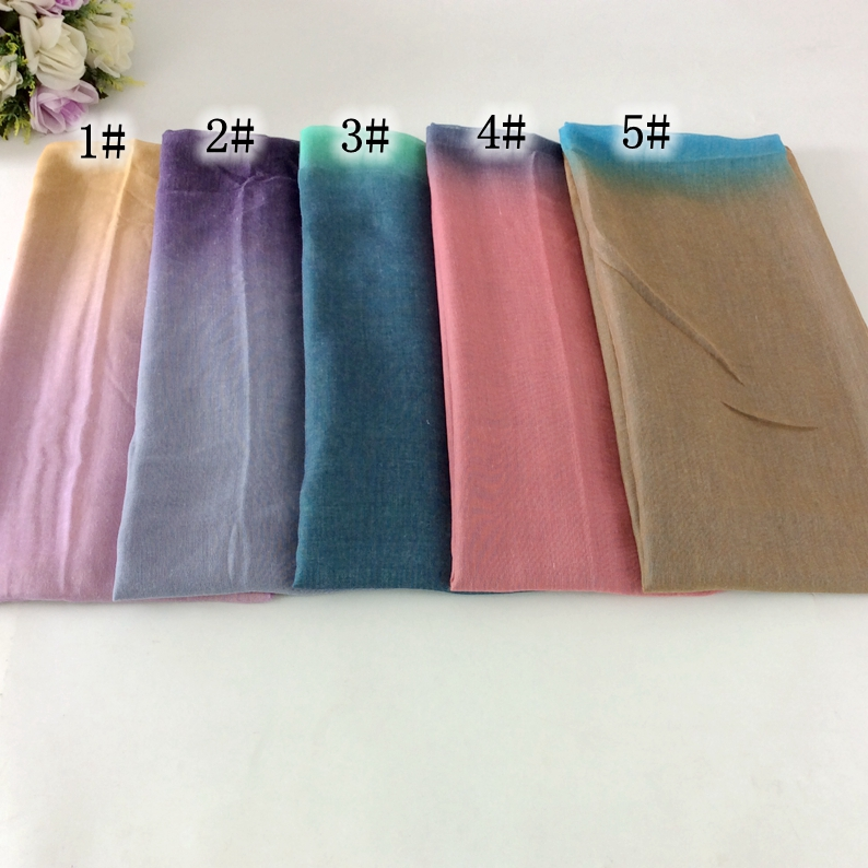 20pcs Dye Ombre Design Two Color Tie Muslim Hijab   Wrap   Long Shawls And   Scarves     Wrap