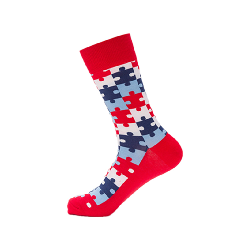 Fashion colourful happy socks men high quality cotton sokken male long sock british style casual couples funny socks