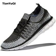Tianyuqi Мужская обувь повседневная обувь мода Fly ткань легкая дышащая мужская обувь удобные мягкие отдыха Брендовая обувь