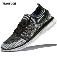 TianYuQi Men S Shoes Casual Shoes Fashion Fly Weave Breathable Lightweight Man Shoes Comfortable Soft Leisure