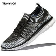 TianYuQi Men's Shoes Casual Shoes Fashion Fly Weave Breathable Lightweight Man Shoes Comfortable Soft Leisure Brand Footwear