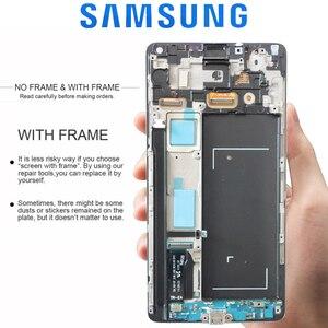 Image 2 - ORIGINAL 5.7 LCDสำหรับSAMSUNG Galaxy Note 4 Note4 N910 N910C N910A N910FจอแสดงผลTouch Screen Digitizer Assembly
