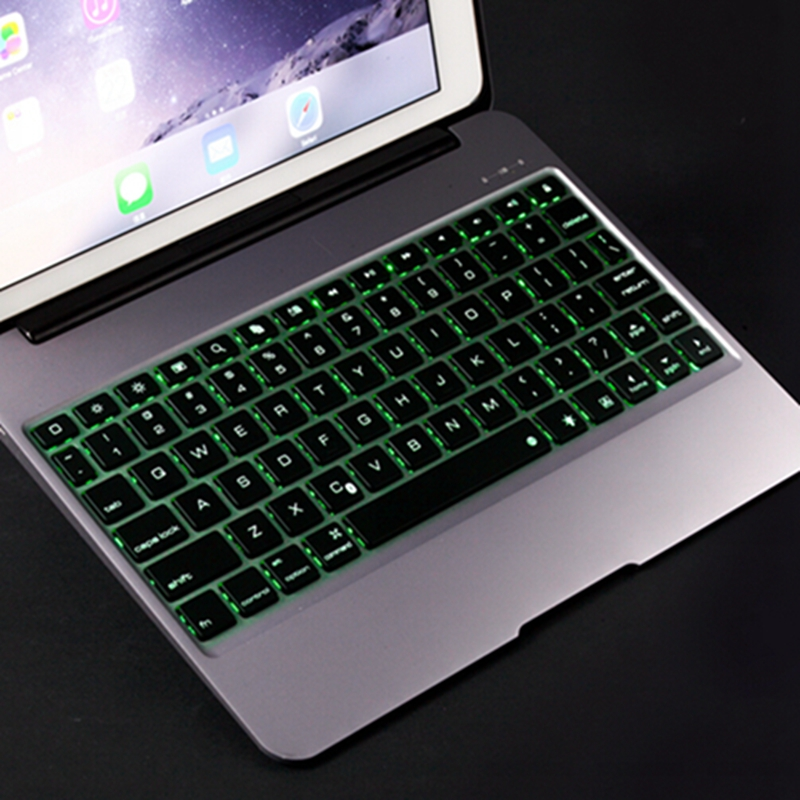 Fashion Alumium Metal Backlight Bluetooth Keyboard Case Cover For Apple iPad Pro 12.9 inch Tablet Bluetooth Keyboard DHL Fedex