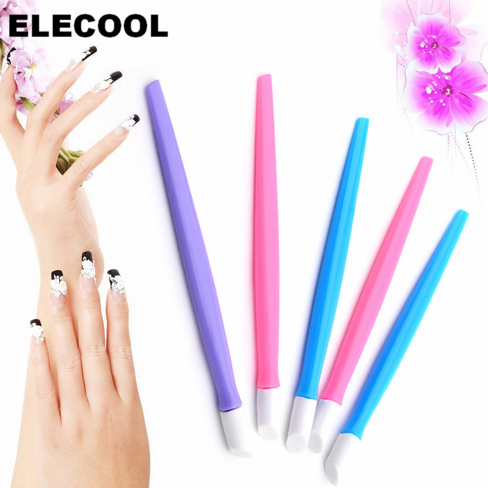 ELECOOL 1pc Sticks Cuticle Pusher Cuticle Remover For Nail