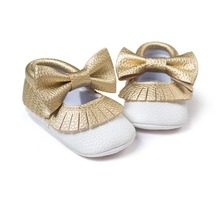 White gold babies shoes butterfly knot sneakers shoes baby first walkers newborn infantil bebe shoes by Pu leather 0~18month