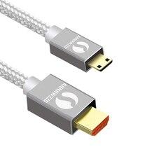 HDMI 미니 HDMI 케이블, 1M,2M,3M,5M 고속 HDMI 케이블 1.4 버전 1080p 3D 태블릿 DVD 캠코더 MP4 미니 HDMI 케이블