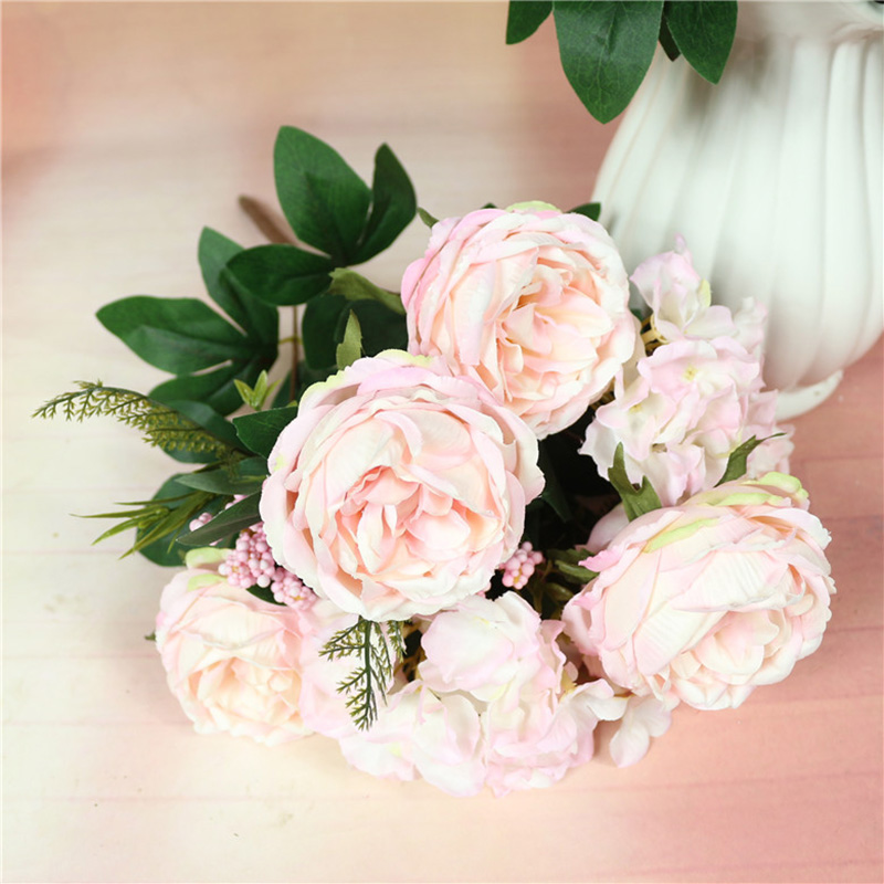Fake Roses Home Decoration Artificial Flower Wedding Decoration Flower For Bride in Artificial Dried Flowers from Home Garden