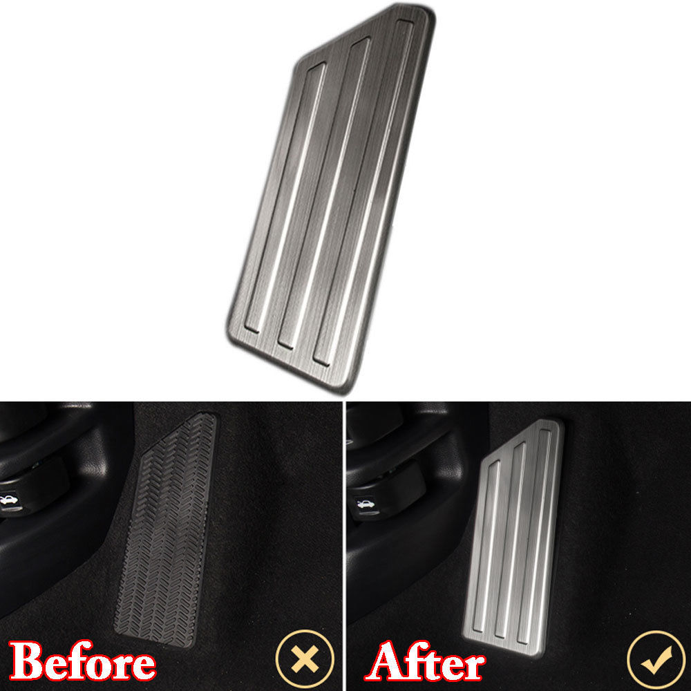 Stainless Steel Left Side Car Foot Rest Pedal Kit Cover Trim Anti-collision Guard Car-Cover For Honda CRV CR-V LHD 2017 2018 AT ball style pvc anti collision angle guard for kids translucent white