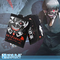 2015 High quality Anime Japanese Tokyo Ghoul casual black canvas flip design short boys black  two fold wallet