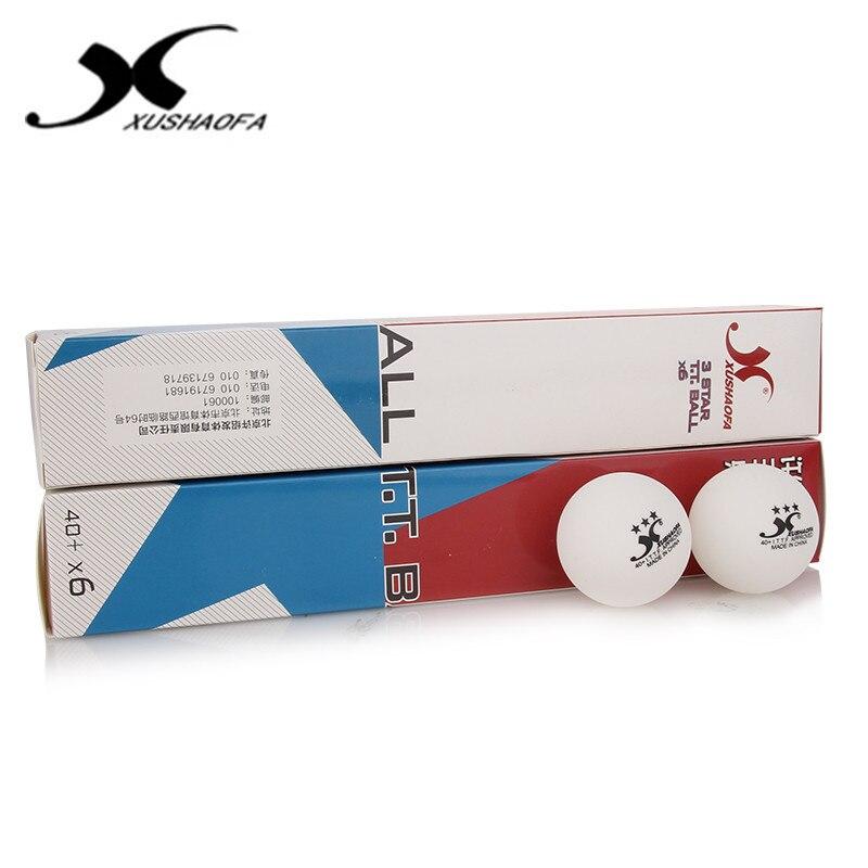 Wholesales Link - 72 Balls XUSHAOFA 40+ Seamless 3-Star Table Tennis Balls Plastic Ping Pong Balls ITTF Approved