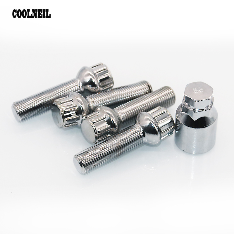 60 Degree Taper XtremeAuto/® 4 x M12 x 1.5mm Wheel nut//lug Includes locking key.Open end nut