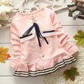 2015 Cute Fashion Girls 100% Cotton Jackets Cardigan Baby Infants kids Coat Children clothing Outwear Coats